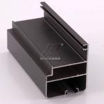 China OEM Extruded Aluminum Profiles , Window Aluminum Profile Black Powder Coating wholesale
