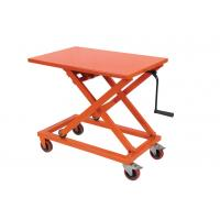 China Portable Mechanical Lift Table Hydraulic Material Handling Equipment For Supermarket wholesale