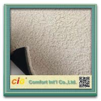 China Elegant  Printed Sherpa Fleece Faux Fur Fabric  For Car Seat Upholstery , Home Textile on sale