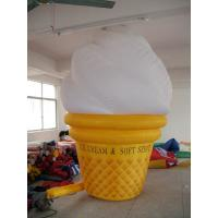China inflatable product model replica / inflatable advertising giant icecream wholesale