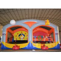 China Baseball Shooting Cage Inflatable Interactive Games With Shooting Combo wholesale