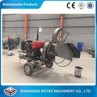 Quality CE Approved Small Output Mobile Diesel Engine Wood Disc Chipper in Forest for sale