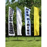 China Outdoor Custom Beach Flags Banner Printing , Flag Advertising Banners Aluminum Pole wholesale