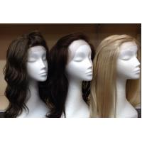 China Smooth Virgin Deep Curly Hair / 100 Human Hair Lace Front Wigs With Baby Hair wholesale