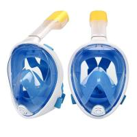 China Anti-Fog Diving Full Face Mask / breathable snorkel Mask with Adjustable Head Straps wholesale