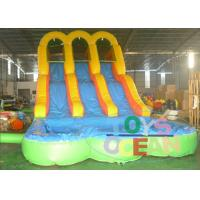 China New Arrive Inflatable Arch Bridge Water Slide Inflatable With Double Slide For Fun wholesale