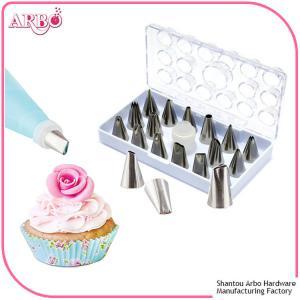 FDA LFGB certificated 16pcs cake decorating tools cake nozzle icing piping nozzles set