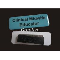 China Offset Printing Blue / White Magnetic PVC Name Badges For Conferences wholesale