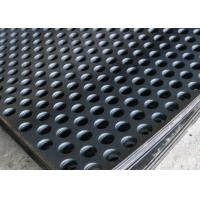 Buy cheap 2mm Thick Perforated Steel Mesh , 41 % Open Rating Black Perforated Iron Sheet from wholesalers