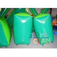 Quality 0.6mm PVC Green Inflatable Paintball Bunkers Inflatable Paintball Barriers CE for sale