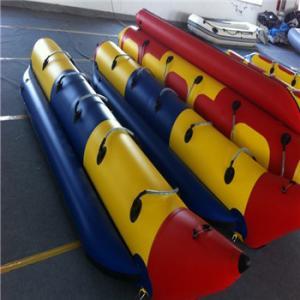 China Durable 0.9mm PVC Material Inflatable Water Banana Boat wholesale