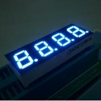 China Bright Blue 7 Segment 4 Digit LED Display For Digital Indicators 0.4 Inch \ wholesale