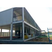 China Dormitory Double Container House Galvanized Steel Frame Structure With Internal Stairs wholesale