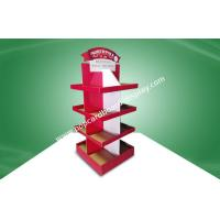 China Red Eco-friendly Corrugated Four Face Free Standing Display Units With Four Shelf wholesale