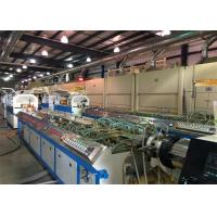 China 22kw PP PE WPC PVC Window Plastic Profile Extrusion Line For Skirting Board wholesale