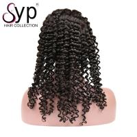 China Malaysian Human Hair Lace Front Wigs With Baby Hair Remy Wavy Curls Headband wholesale