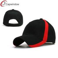 China Sport Side Trimmed Fitted Baseball Hats , Velcro Closure Heavy Brushed Cotton Caps wholesale