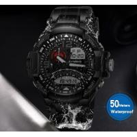 China Synoke Men Outdoor Multifunction Waterproof 50m Multifunction Pu Band Chronograph Alarm Wrist Watch 9601 wholesale