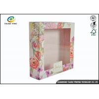 Quality Colorful Luxury Packaging Boxes , Small Cosmetic Boxes For Perfume Display Window for sale