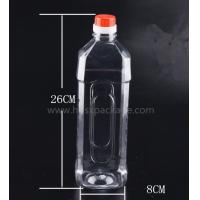 China PET 1000ml empty mineral water bottles with screw caps for drinking supply samples wholesale