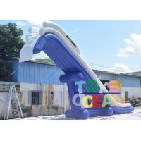 Quality Airtight Giant Inflatable Water Toys Inflatable Floating Yacht Slide For Open Water for sale