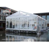 China 10 x 20 m Transparent Marquee Tent With Glass Walls For Outdoor Temporary 200 People Wedding wholesale