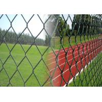 China Used Galvanized Chain Link Fence , Galvanised Chain Link Fencing For Road / Sport wholesale