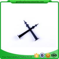 China Plastic Screw In Garden Ground Anchor For Netting Fix 27cm Length Black Plastic Garden plant accessories wholesale