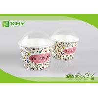 8oz Custom Logo Printed Disposable Ice Cream Cups Containers with Dome Lids Food