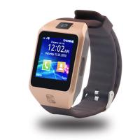 China China supply bluetooth 3.0 1.44  Touch Scree call phone watch dz09s sim card bluetooth smart phone watch 128M+64M meory wholesale