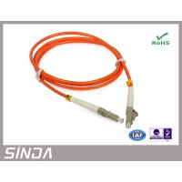 China LC PC Multimode Fiber Optic Patch Cord With High Return Loss , APC Patch Cord on sale