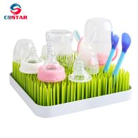 China Plastic Baby Bottle Drying Rack Square Large Countertop Drainer Mat and Dryer Stand for Infant Dishes Bottles and Access wholesale