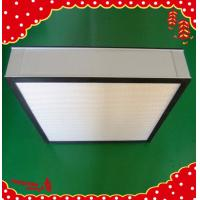 China High efficiency particulate aluminum frame pleated panel Hepa filter wholesale