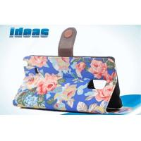 China Cloth Grain cell phone leather pouches / Protection Holster with handcraft sewing wholesale