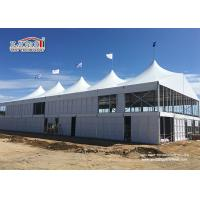 China Metal Aluminum Outdoor High Peak Tents White Color FOR Party , Trade Show , Celebration wholesale