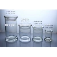 China a series of different size glass jars for candles in stock wholesale