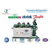 China Fresh beef cooling storage R404a Bitzer brand screw type parallel compressor racks wholesale