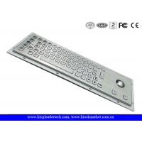 China  Panel Mount Rugged Industrial Computer Metal Keyboard With Trackball  for sale