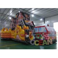 China Giant Car Children Obstacle Course Equipment  Amazing With Huge Slide wholesale
