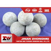 China High Carbon Rail Steel Material 125mm Forged Grinding Media Steel Balls For Ball Mill wholesale