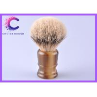 China Classic silver tipped badger brush Faux Horn Handle 24mm knots size wholesale