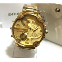 China Wholesale NEW Diesel DZ7399 Men's MR DADDY 2.0 All Gold Stainless Steel Strap Mens Watch wholesale
