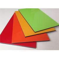 Quality High Gross 3mm / 4mm / 5mm / 6mm Aluminum Sandwich Panel red / green / orange for sale