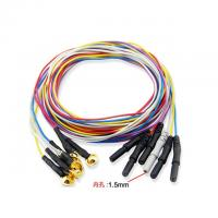Buy cheap 20pcs/lot Din 1.5 Colourful TPU jacket,EEG PATIENT CABLE ECG CABLE EKG Cable Importer  Probe from wholesalers