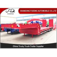 Gooseneck Lowboy 3 Axles Low Loader Semi Trailer tri-axle 45Tons low bed trailer