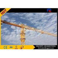 China 45M Freestanding Height 8T Flat Head Topless Tower Crane Jib Length 55M wholesale