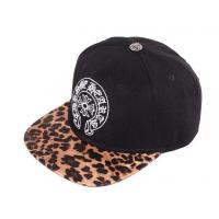 China Cotton Leopard Baseball Cap Embroidered Baseball Hats With Metal Top Button wholesale