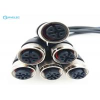 China Screw Waterproof Ethernet Cable Connector , Senor Female Extension Cable Monitor wholesale