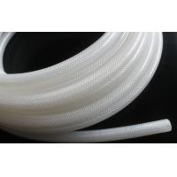 China High Purity Fiber Braided Silicone Tubing No Smell Translucent Natural Color wholesale