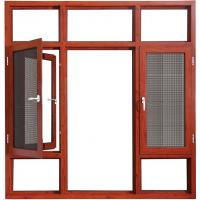 Quality Coloured Hinged Aluminium Double Casement Windows Bronze With Reflective Glass for sale
